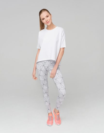 Leggings White Triangle