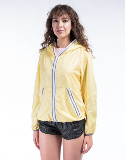 Windproof jacket – Pack in bag – Iced lemon