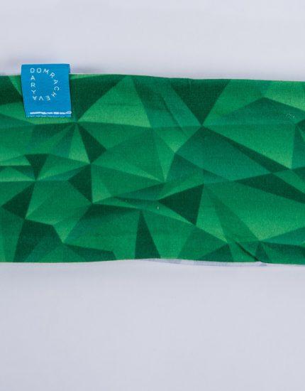 Headband Green/Grey Crystal