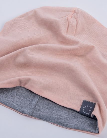 Шапка Doubleside Peach/Light Grey