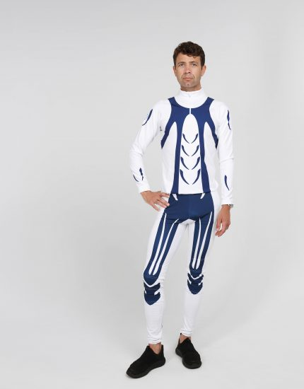 RACING SUIT BLUE-white