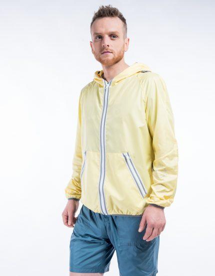 Windproof jacket – Pack in bag – Iced lemon